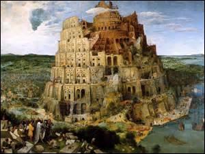 Surnommée «La Grande» Tour de Babel, je suis une huile sur panneau de bois de chêne, mesurant 114cm x 155cm, peinte vers 1563. Conservée au Kunsthistorisches Muséum de Vienne, mon auteur est né à Bruegel (Pays-Bas) vers 1525 et décède à Bruxelles le 9 septembre 1569, mais comment se nomme t-il ? (Attention les 3 ont existé et ont été peintres, il s'agit du père et de ses 2 fils) .