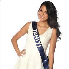 Miss Tahiti est ou a... ... ... 2013