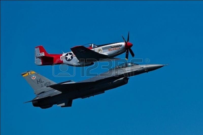 Avion US, arrivée assez tardivement dans cette guerre, il fut le seul ( ? ) à pouvoir escorter les bombardiers US sur toute la longueur des missions de bombardement sur l'Allemagne et surtout sur Berlin. Il équipa de nombreuses escadrilles US pendant la guerre comme les « Tuskegee Airmen », les seuls pilotes Afro-Américains de l'USAF. Quel est cet avion ?