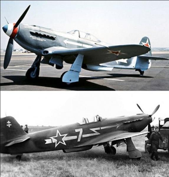 Une casserole tricolore et une étoile rouge. Le nom de cet avion ne provient pas d'un ruminant asiatique mais c'est une abréviation du nom de son concepteur. Une escadrille française s'illustra sur le front est en combattant avec les Soviétiques à bord de cet avion. Quel est-il ?