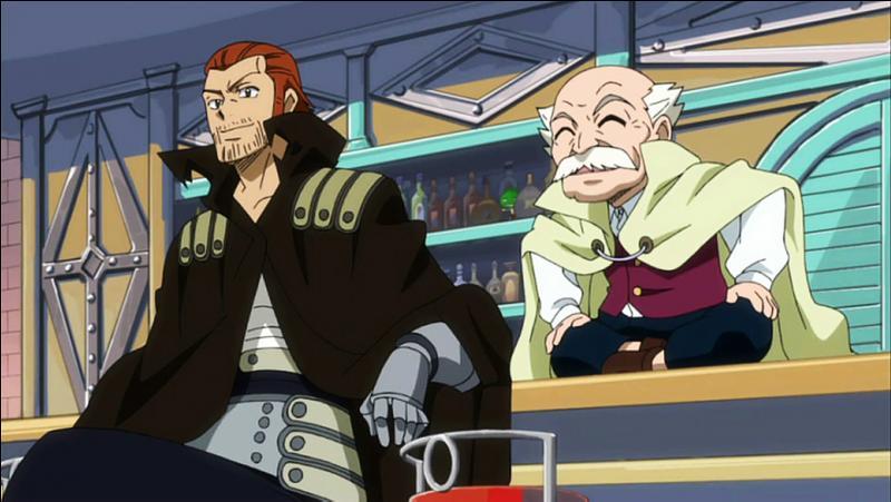 Quel(le) ancien(ne) maître de Fairy Tail espionne les membres de la guilde sur la plage ?