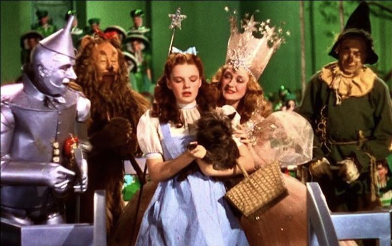 Un épouvantail sans cerveau, un lion trouillard, un homme de fer-blanc sans coeur, une petite fille Dorothy et son chien toto devraient vous suffire pour trouver ce film musical ! Quel est-il ?