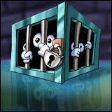 Quel héros fait des pieds et des mains pour libérer les êtres retenus dans ces cages ?
