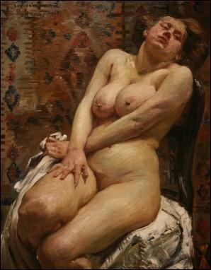 Se situant à la croisée de l'impressionnisme et de l'expressionnisme, quel peintre a réalisé ce nu féminin en 1911 ?