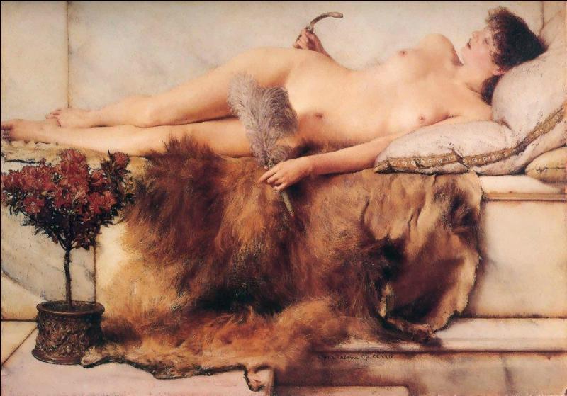 Quel peintre britannique a réalisé cette oeuvre de style romantique intitulée   Dans le lépidarium ?