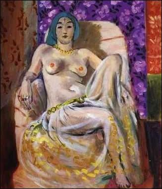 Les odalisques sont devenues des personnages souvent utilisés dans le mouvement artistique. On les rencontre dans un grand nombre de peintures érotiques. Cette odalisque assise de 1922 est l'oeuvre de quel artiste ?