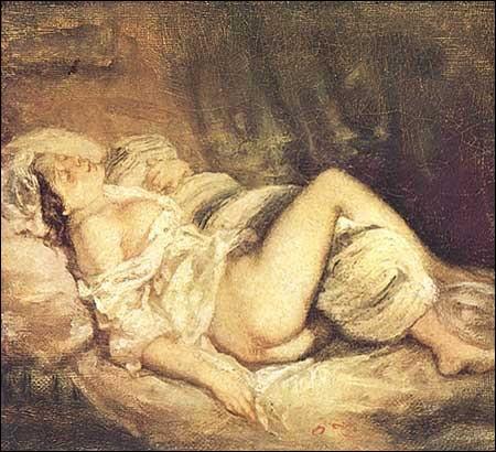 Ce tableau intitulé   Rêve d'amour  , date de 1768 . Cette oeuvre très libertine pour l'époque est de quel peintre français ?