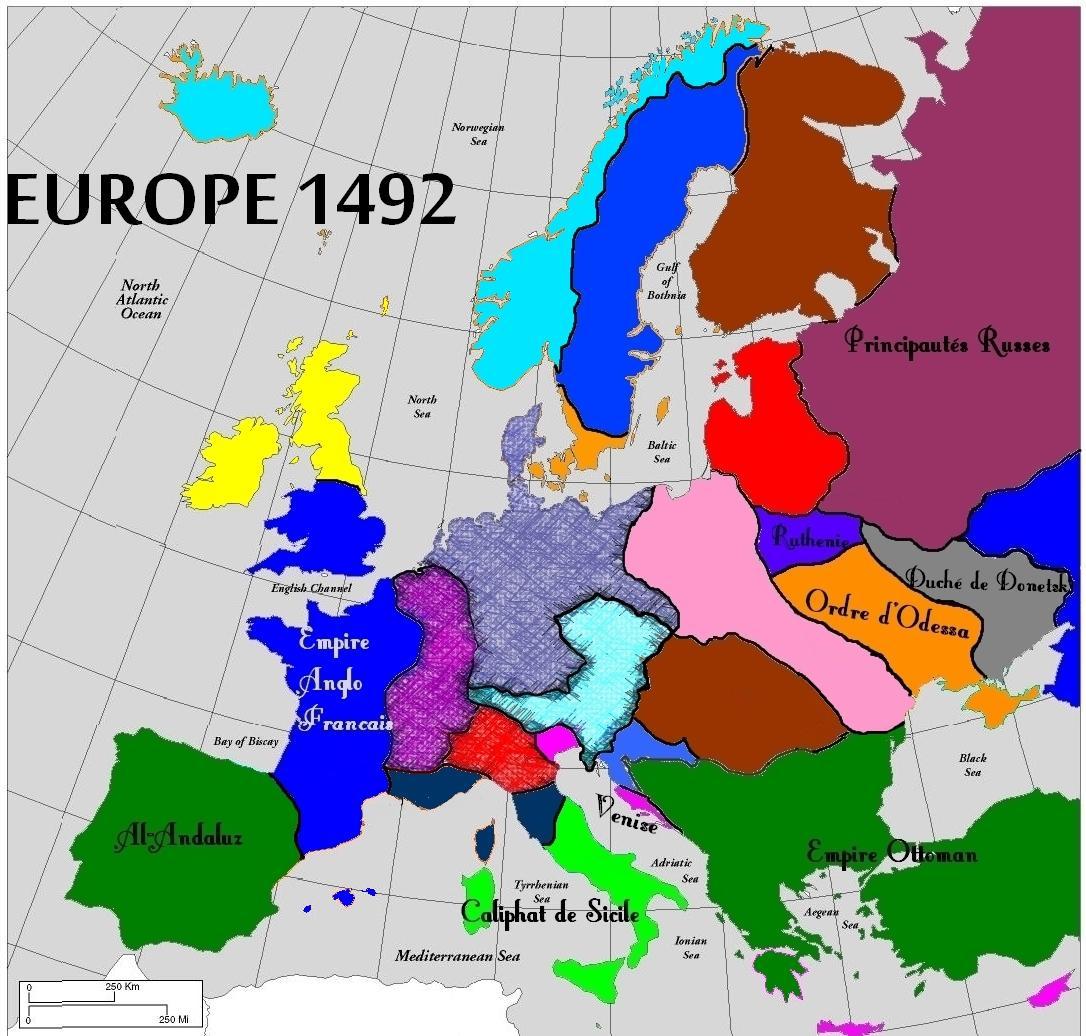 L'Europe en 1492. Quiz QCM Histoire, Europe, Reviser - photo#29