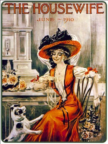En l'année 1910, c' est une jolie femme de la Belle époque qui a remplacé le Père-Noël pour faire la promotion de la marque :