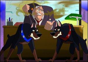 Quels sont les noms des chiens de Sykes dans Oliver et Compagnie ?