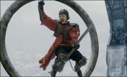 Dans le film, on voit les matchs de Quidditch, mais il manque quelque chose... Ah ! Oui, les fameux commentateurs remplaçants de Lee Jordan qu'on ne voit que dans le livre et qui nous font mourir de rire. J'ai nommé :