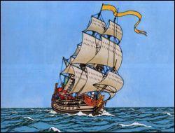 En l'année 1698... Depuis quelle île des Antilles le vaisseau  La Licorne  est-il parti ?