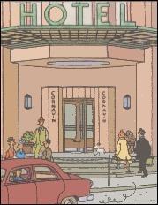 Dans lequel de ces hôtels Tintin a-t-il au moins passé une nuit ?
