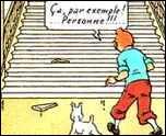 Quelle est la seule personne à ne pas être tombée dans l'escalier à cause de la marche brisée dans  Les Bijoux de la Castafiore  ?