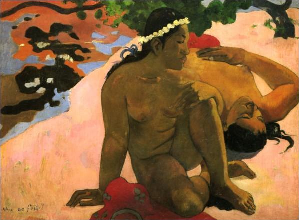 Qui est celle qu'il rencontra à Tahiti et qui devint son modèle et sa compagne ?