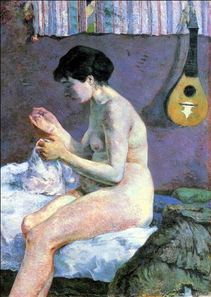 En quelle année Gauguin a-t-il peint cette toile appelée  Etude de nu ou Suzanne cousant  ?
