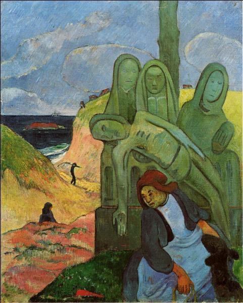 En quelle année réalisa-t-il cette toile intitulée  Le calvaire breton  ?