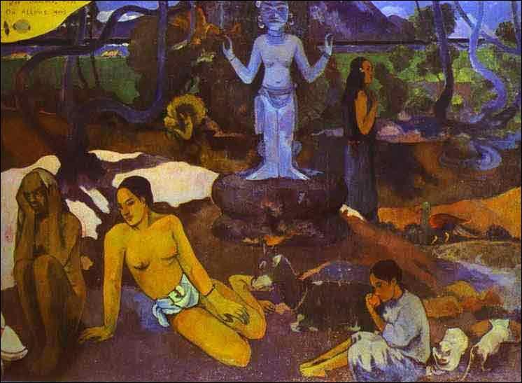 A Tahiti, il peint son oeuvre majeure, qu'il considère comme son testament pictural, quelle est cette oeuvre ?