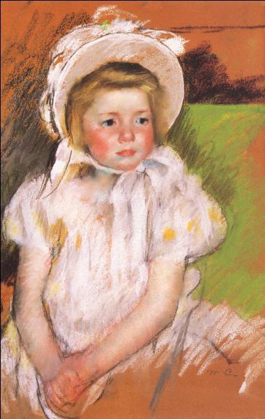 Qui a peint Simone dans un bonnet rose ?