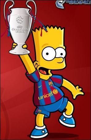 Quelle équipe encourage Bart ?