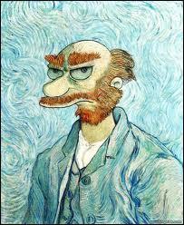 Mais quel personnage des Simpson se cache derrière cet autoportrait de Van Gogh ?