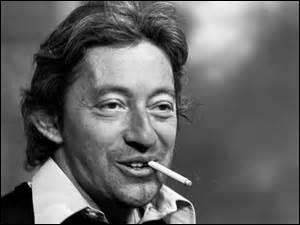 Quel auteur est cité par Serge Gainsbourg : ''Je suis venu te dire que je m'en vais / Et tes larmes n'y pourront rien changer / Comme dit si bien ------------ ''au vent mauvais'' . ''