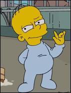 Une femme enceinte nommée Gretchen se coince dans un ascenseur avec Homer. Avec l'aide d'Homer, elle donne naissance à un petit garçon, et Homer l'adopte et lui donne un nom :