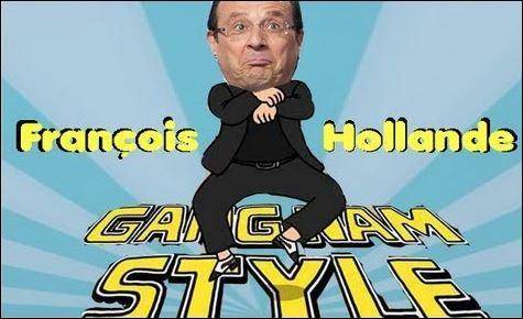 Notre président sait aussi danser, notamment le  Gangnam Style  de :