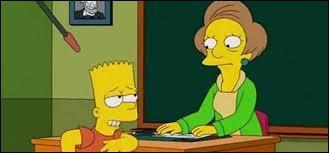 Edna est en dépression et fume beaucoup à cause d'un élève désobéissant. Comment s'appelle-t-il ?