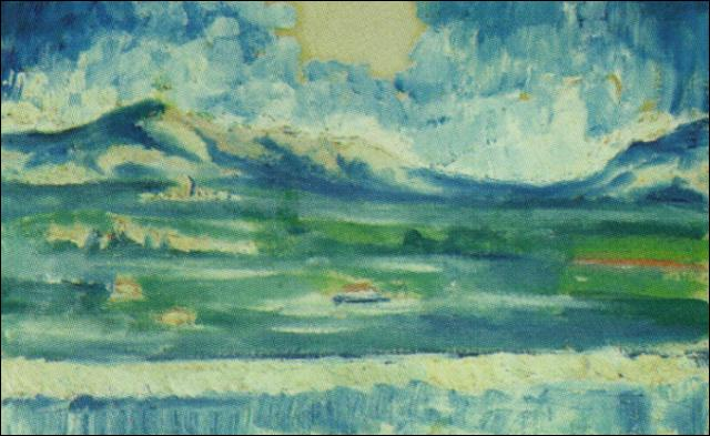 Lequel de ces peintres, alors âgé de 10 ans, a peint Paysage de l'Ampurdan, cette même année ?