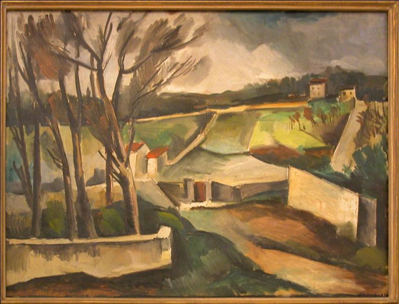 Qui a peint Le chemin du village ?