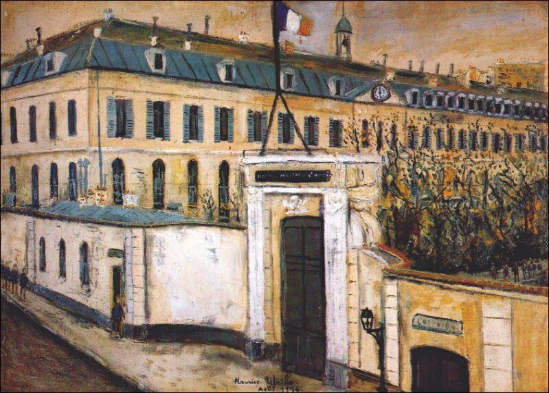 Qu a peint L'hôpital militaire en 1914 ?