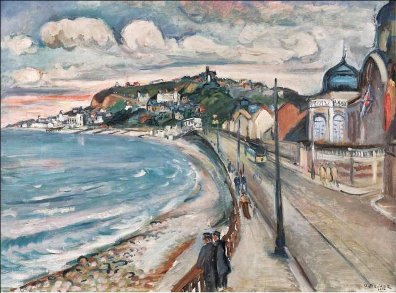 Qui a peint La plage du Havre en cette année 1914 ?