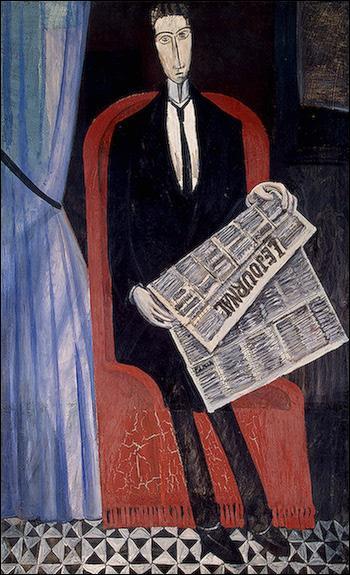 Qui a peint Portrait d'un homme avec un journal ?
