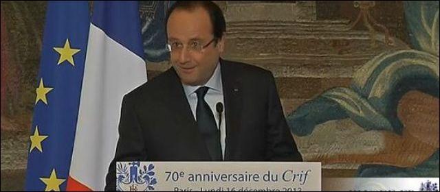 Lors du 70ème anniversaire du Crif, quelle vanne François Hollande a-t-il lancée sur l'Algérie ?