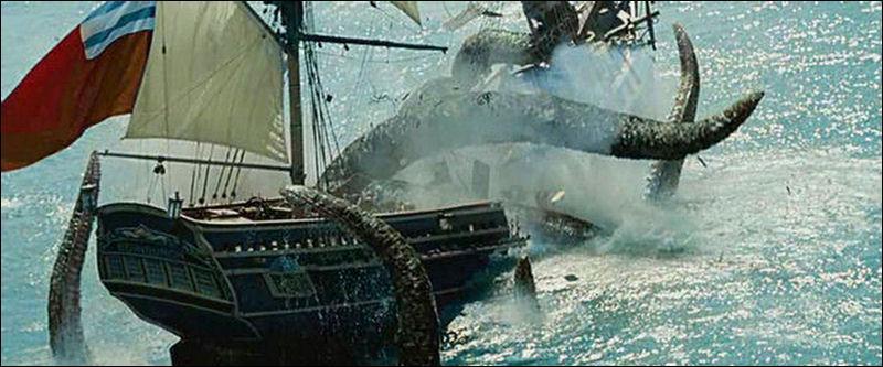 Je règne en maître sur l'océan, je suis un monstre gigantesque qui inspire la terreur aux marins qui me croisent. Que Jack Sparrow se tienne bien ou je l'enserrerai dans mes tentacules. Mon nom effrayant est :