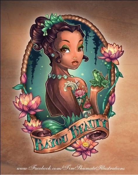 Elle sort du cadre ; un magicien vaudou doit être dans les parages. Cette princesse est sans aucun doute ...