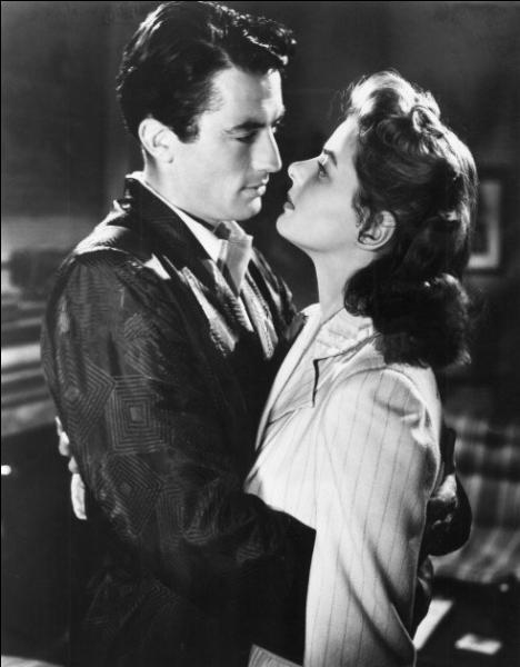 Comment se prénomment ces deux stars hollywoodiennes qui s'illustrèrent, en 1945, dans un thriller psychanalytique réalisé par Alfred Hitchcock intitulé  La Maison du docteur Edwardes  ?