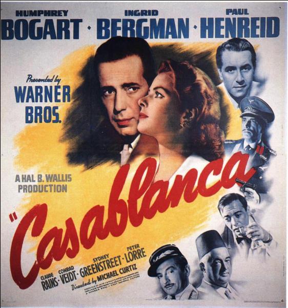 Ingrid Bergman accède peu à peu à la lumière. Elle connaît son premier grand rôle dans  Casablanca  en 1942. Combien le film recevra-t-il de nominations aux Oscars en 1944 ?