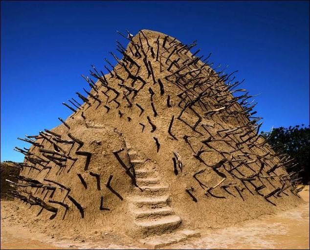 Cette spectaculaire structure pyramidale, édifiée par Askia Mohamed est un tombeau reflétant la tradition architecturale caractéristique du Sahel. Dans quel pays africain est-elle édifiée ?