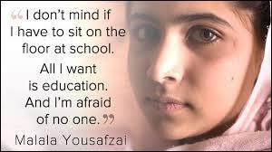 Novembre : Malala Yousafzai est une jeune femme de 16 ans qui lutte courageusement contre l'influence des Talibans en Afghanistan. Pour encourager la liberté de penser, le parlement européen lui remet un prix dont le nom évoque un opposant au régime soviétique :