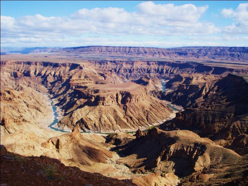 Où le Canyon de la Fish River, le deuxième plus long au monde avec ses 160 kilomètres, est-il localisé ?
