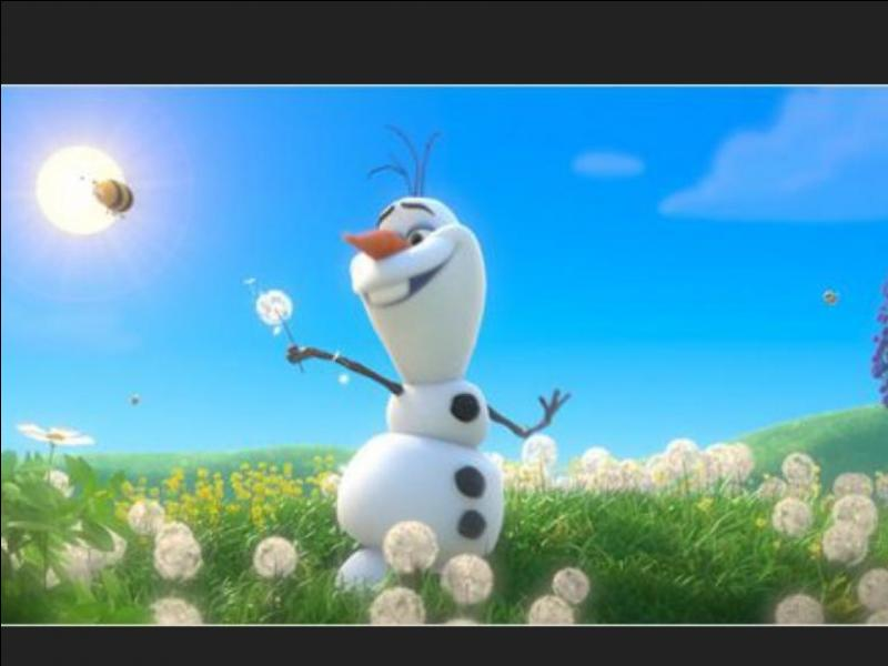Que va faire la reine pour le bonhomme de neige lors du dégel ?