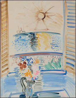 Qui a peint Fenêtre ouverte sur la mer ?