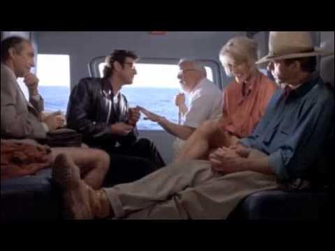 Au début de l'histoire, le milliardaire John Hammond convie les plus grands spécialistes à Isla Nublar qui renferme Jurassic Park. Alors qu'ils sont dans l'hélicoptère, dans quels termes Ian Malcolm s'adresse-t-il à Alan Grant et Ellie Sattler ?