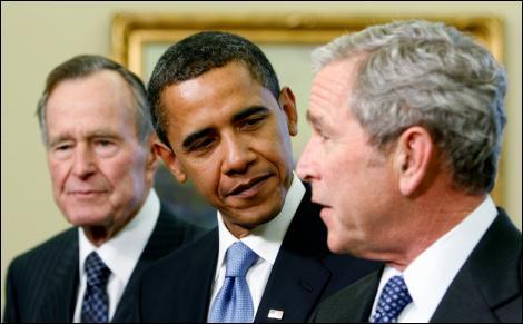 Barack Obama a refusé de s'exprimer sur Gaza, arguant que la politique étrangère ne peut être conduite par deux différentes administrations. Selon lui: