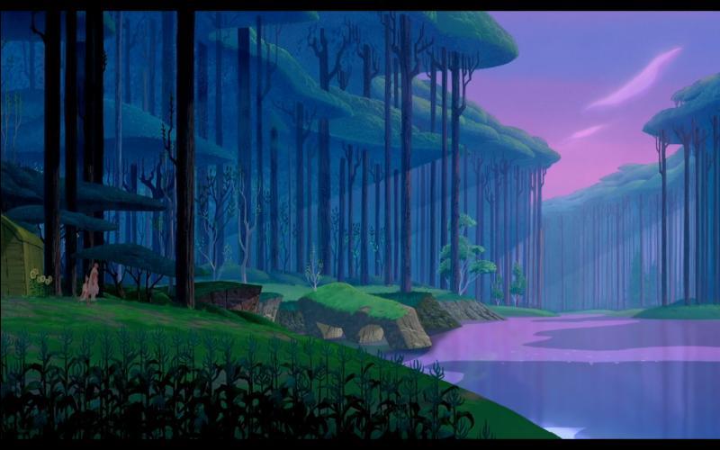 Lors de la reprise de cette chanson, un peu plus tard, alors que le chef Powhatan se promène avec sa fille Pocahontas, près de la rivière, que lui annonce-t-elle ?