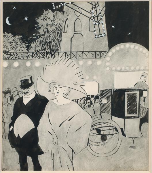 Qui a dessiné Extérieur du Moulin rouge ?