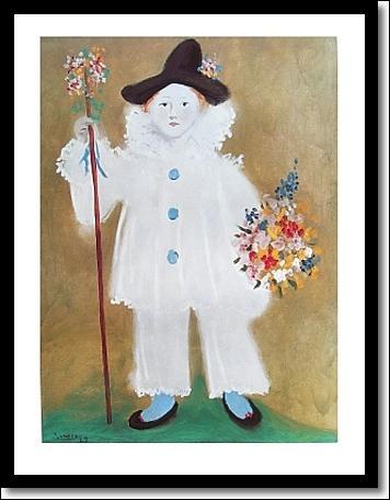 Qui a peint Pierrot et les fleurs ?