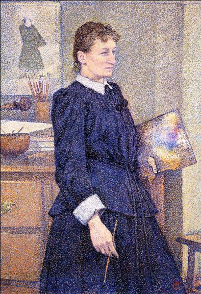 Qui a peint Anna Boch dans son studio ?